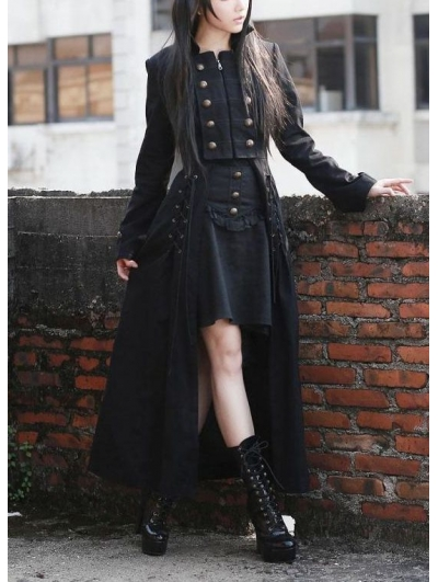 black-double-breasted-gothic-long-coat-for-women